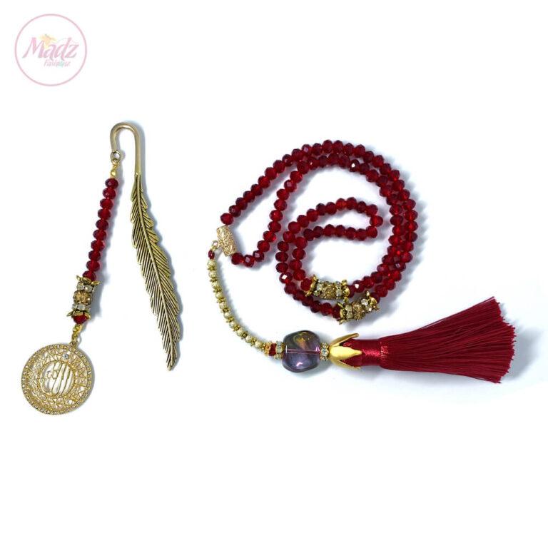 Red Tasbeeh 99 Beads , Ramadan Islamic Gifts Set - MadZFashionZ UK
