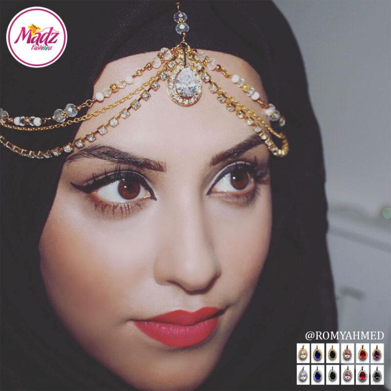 Madz Fashionz USA romy_ahmed Bridal Matha Patti Headpiece Gold and Silver