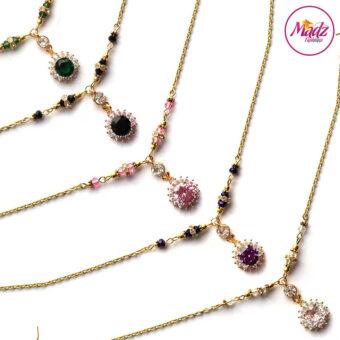 Madz Fashionz USA: Sahiba Crystal Headpiece Matha Patti Maang Tikka Gold Silver