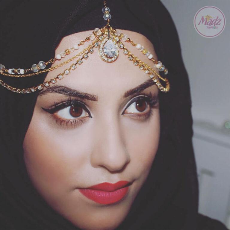 Bridal Headpiece , Hair Jewelry , Head Wear - Romy Ahmed , Matha Patti - MadZFashionZ USA