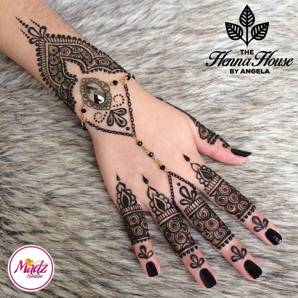 Madz Fashionz UK: Hennabyang Gypsy Black Hand Chain Panja Bracelet