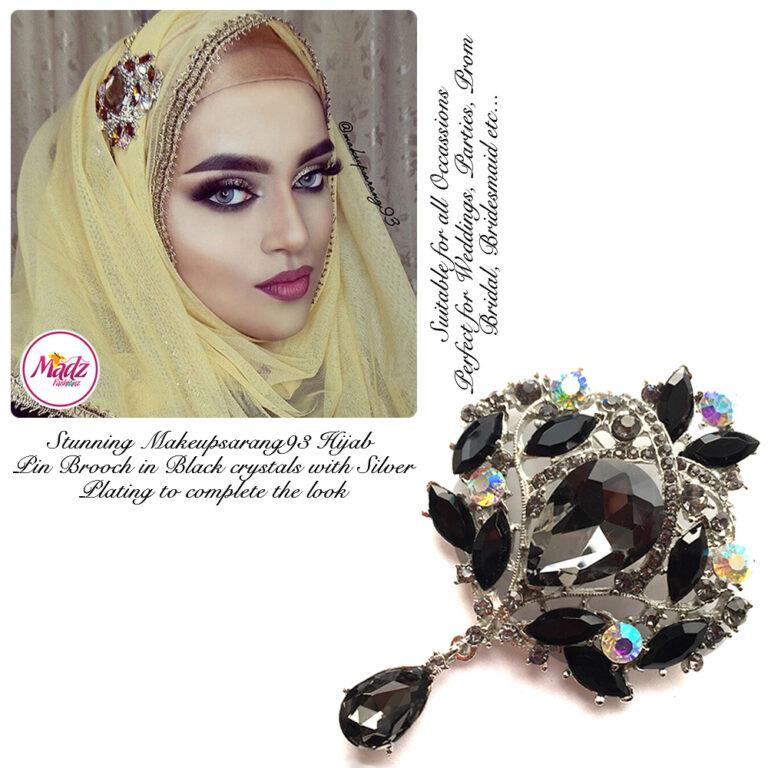 Madz Fashionz USA: Makeupsarang93 Elegant Brooch Hijab Pin Silver Black