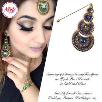Madz Fashionz USA: @simmysbeauty Hijab Pin, Hijab Jewels Stick Pin Royal Blue Stones