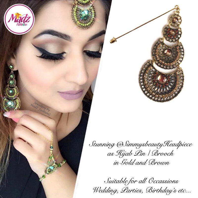 Madz Fashionz USA: @simmysbeauty Hijab Pin, Hijab Jewels Stick Pin Brown Stones