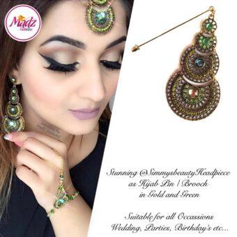 Madz Fashionz USA: @simmysbeauty Hijab Pin, Hijab Jewels Stick Pin Green Stones