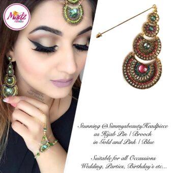 Madz Fashionz USA: @simmysbeauty Hijab Pin, Hijab Jewels Stick Pin Pink Blue Stones