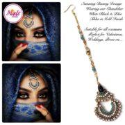Madz Fashionz USA: beautydosage Hair Tikka Maang Tikka Gold Blue