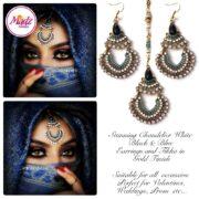 Madz Fashionz USA: beautydosage Hair Tikka Maang Tikka Earrings Set 2