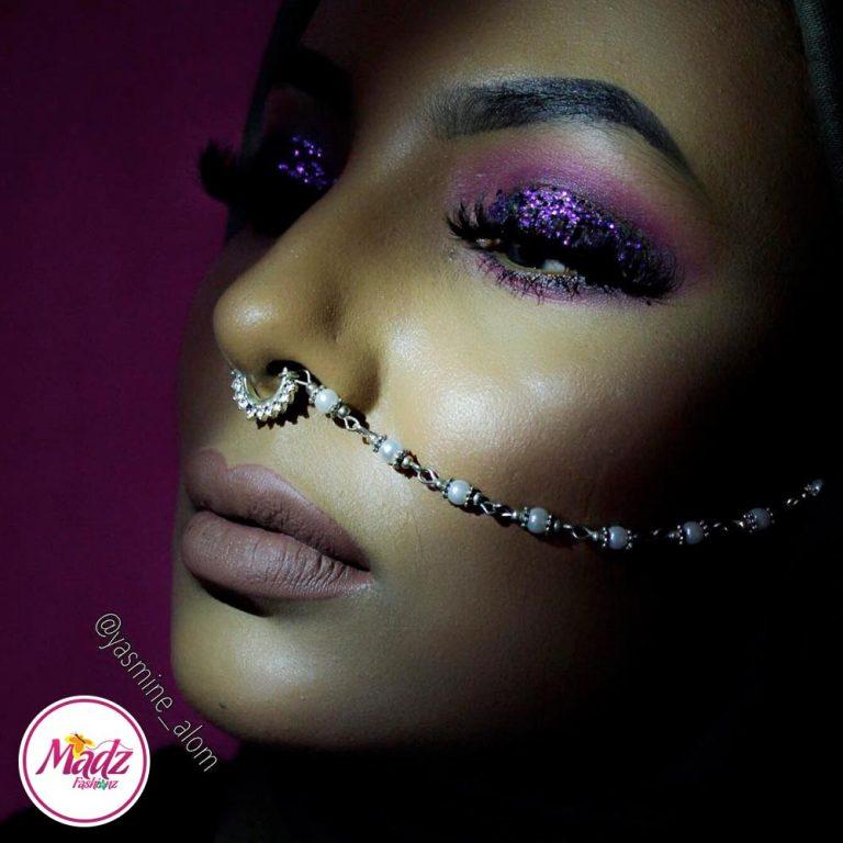Madz Fashionz USA: Yasmine Alom Pearl Indian Nose Ring Nath Bullaku Nathu