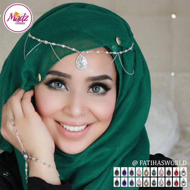Madz Fashionz USA - Fatihasworld Tear Drop Matha Patti Headpiece Gold and Silver