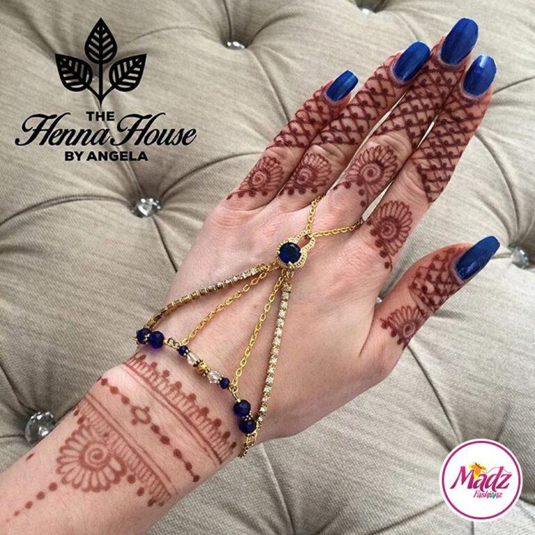 Hennabyang Cuff Bracelet Hand Jewellery Panjas 2 - MadZ FashionZ USA