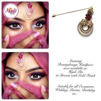 Madz Fashinz USA: Beautydosage Chandelier Hijab Pin Gold Champagne