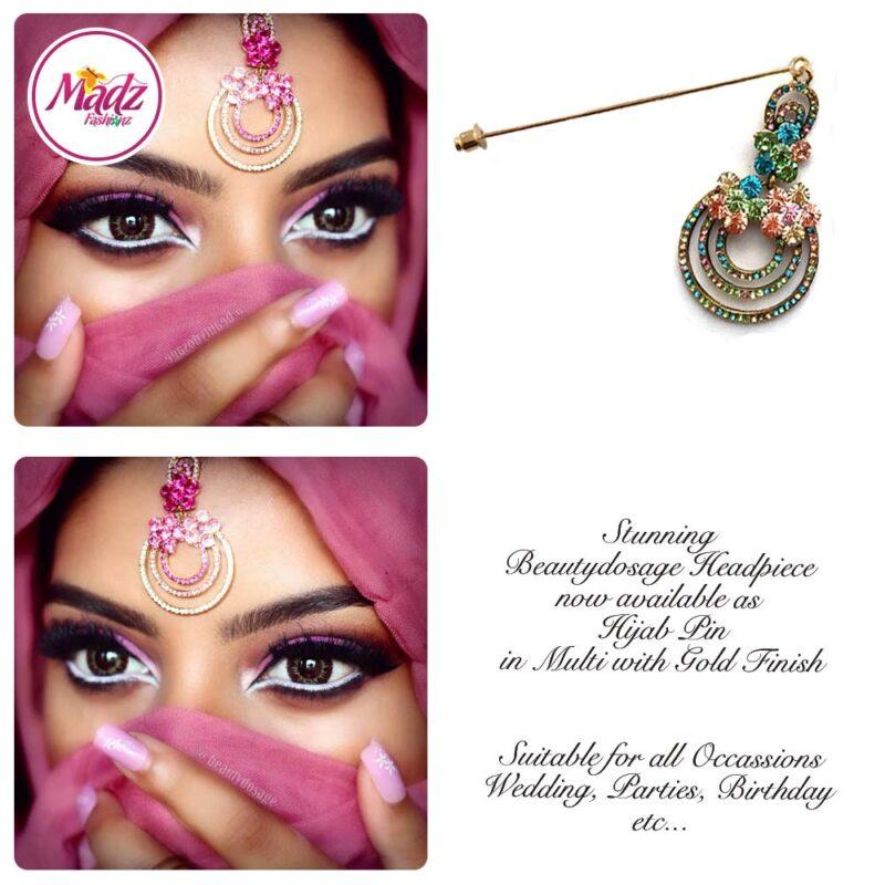 Madz Fashinz USA: Beautydosage Chandelier Hijab Pin Gold Multi