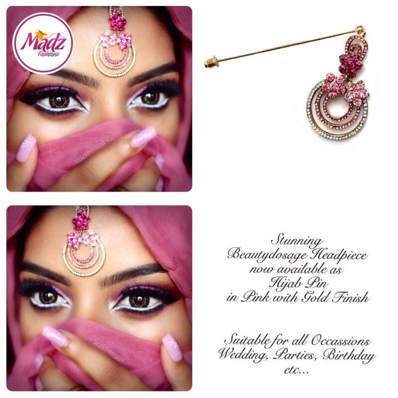 Madz Fashinz USA: Beautydosage Chandelier Hijab Pin Gold Pink