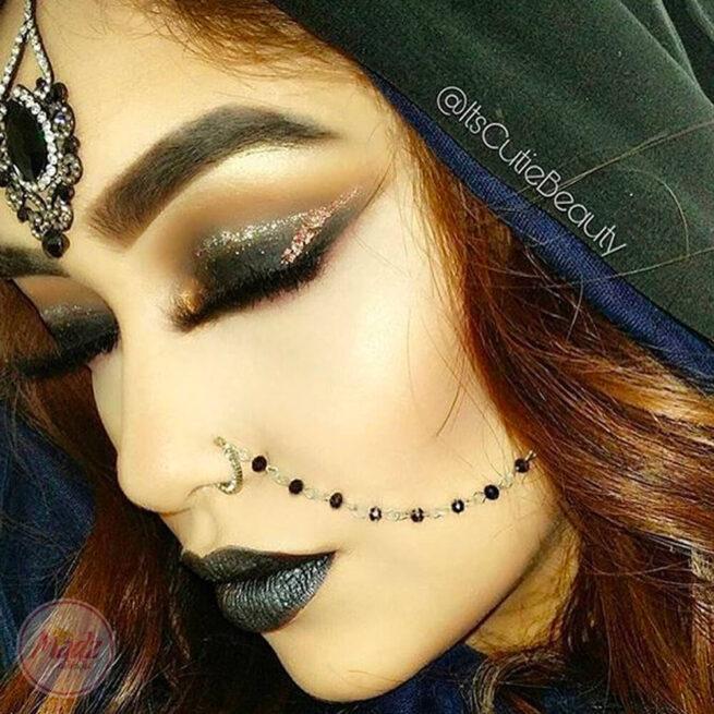 ItsCutieBeauty hair tikka , bohemian head wear , Tibetan hair accessories , Gold hijab pin , arabic hoojabs , indian head gear