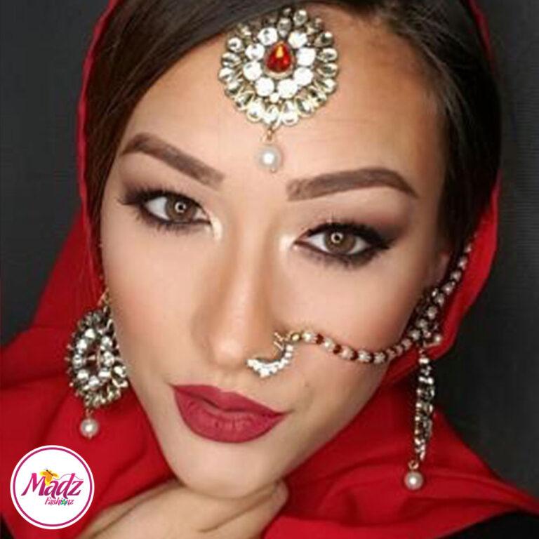 Madz Fashionz USA: MSPaintedlady Pearled Bridal Nose Ring Nath Indian Bullaku Nathu