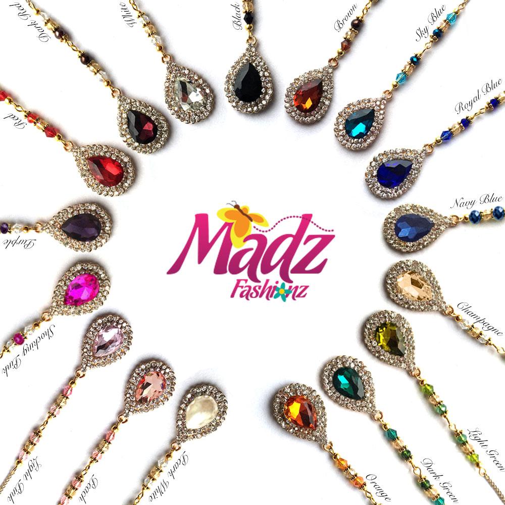 Madz Fashionz Usa Muskaan Crystal Maang Tikka Matha Patti