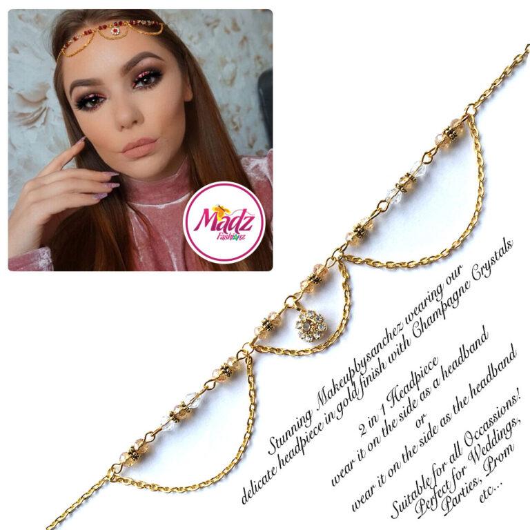 Madz Fashionz USA: Makeupbysanchez Bespoke Delicate Matha Patti Gold Champagne