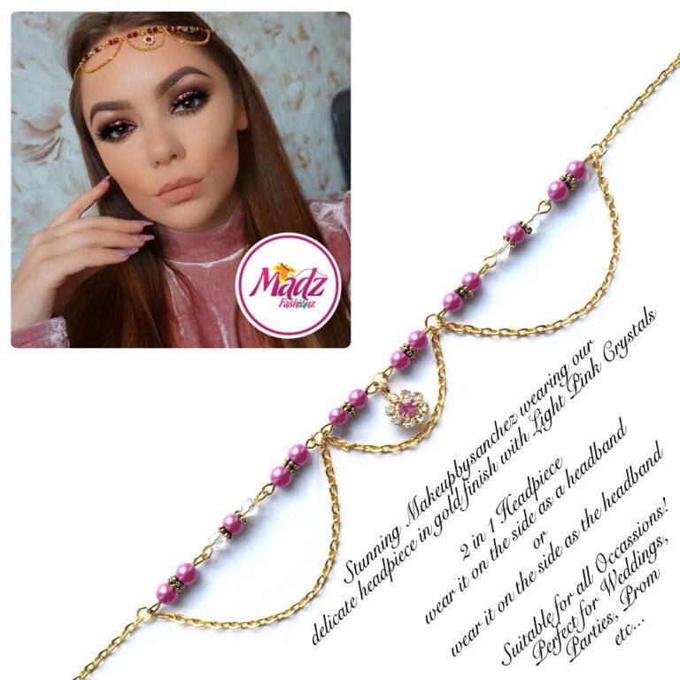 Madz Fashionz USA: Makeupbysanchez Bespoke Delicate Matha Patti Gold hot pink