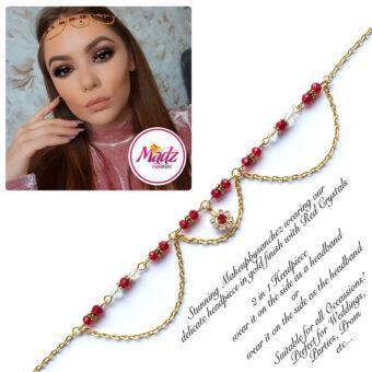 Madz Fashionz USA: Makeupbysanchez Bespoke Delicate Matha Patti Gold red