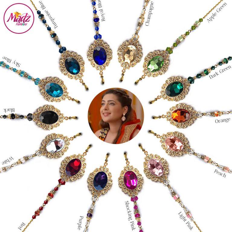 Madz Fashionz USA: Shiny Dixit Chandelier Maang Tikka Hair Tikka Zee Tv ZKM Gold
