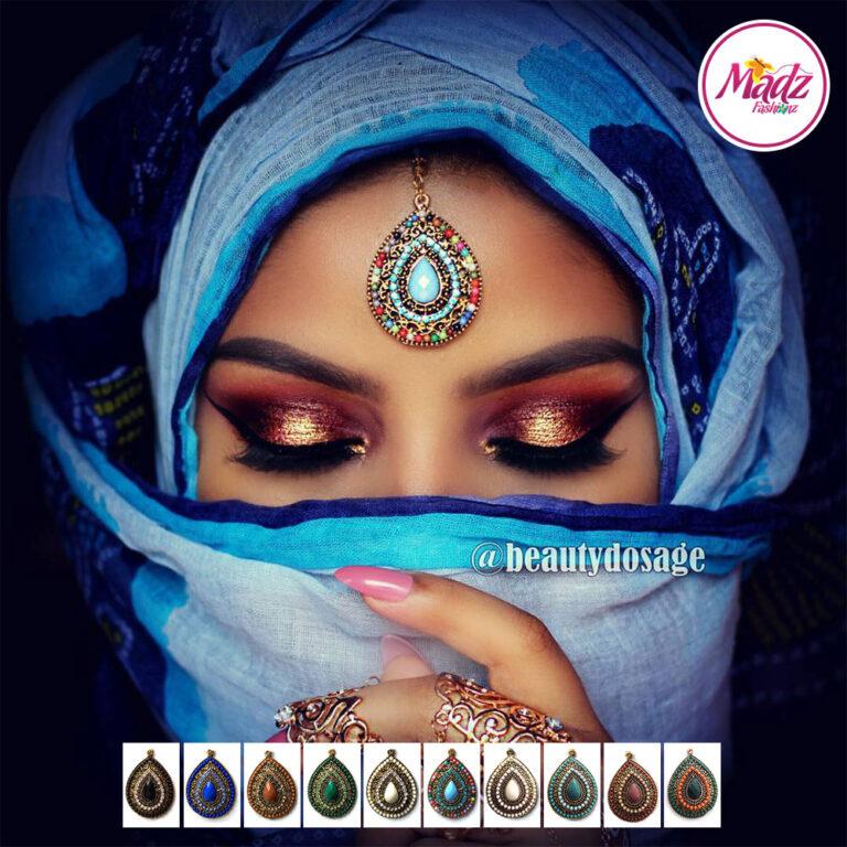 Madz Fashionz USA: Beautydosage Chandelier Maang Tikka Gold White