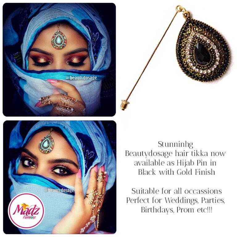 Madz Fashionz USA: Beautydosage Hijab Pin Hijab Jewels Stick Pins Gold Black
