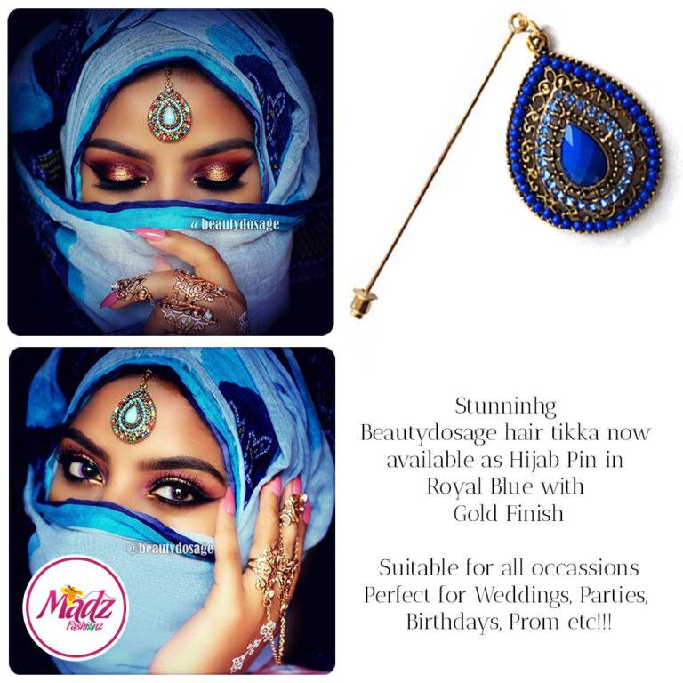 Madz Fashionz USA: Beautydosage Hijab Pin Hijab Jewels Stick Pins Gold royal blue