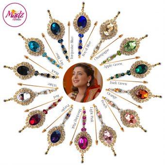 Madz Fashionz USA: Shiny Dixit Chandelier Hijab Pin Stick Pin Hijab Jewels Zee Tv ZKM Gold