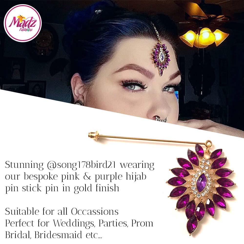 Madz Fashionz USA: @song178bird21 Pink Hijab Pin, Hijab Jewels