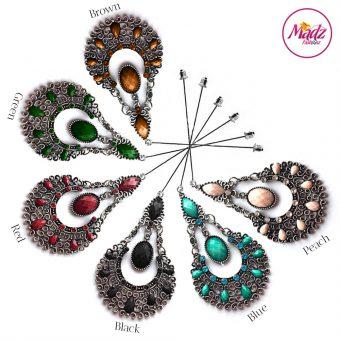 Madz Fashionz USA: Taybah Hijab Pin Hijab Jewels Stick Pins Silver Black Blue Red Peach Green Brown