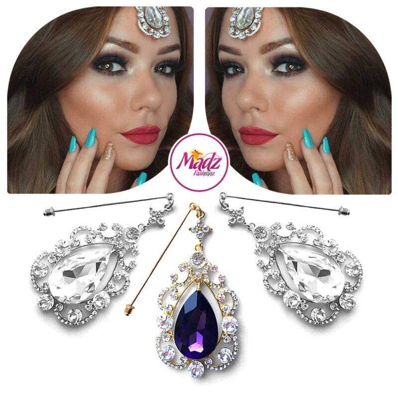 Madz Fashionz USA: Makeupbysanchez Chandelier Drop Hijab Pin Stick Pin Hijab Jewels Hijab Pins Gold Purple Silver White