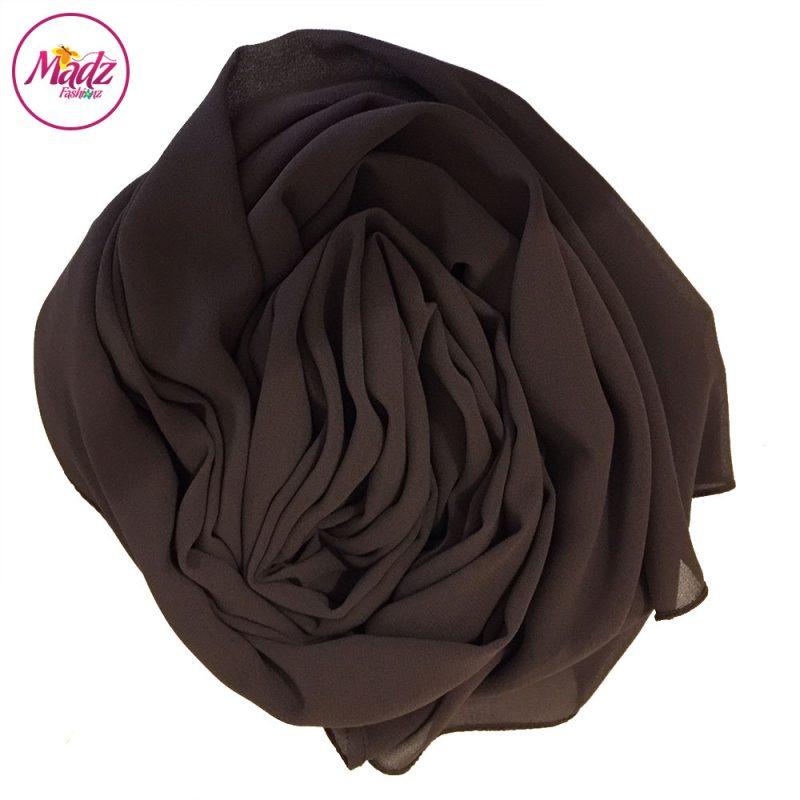 Madz Fashionz USA: Long Maxi Plain Chiffon Chocolate Muslim Hijabs Scarves Shawls