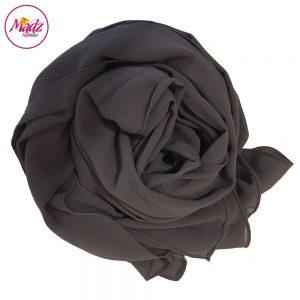 Madz Fashionz USA: Long Maxi Plain Chiffon Grey Muslim Hijabs Scarves Shawls