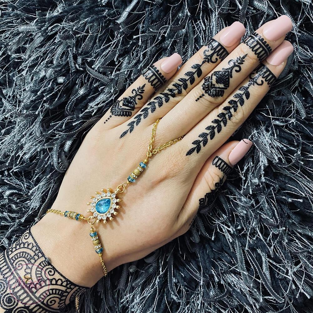 Gold Hand Chain , Slave Bracelet , Hand Harness – Madz Fashionz USA