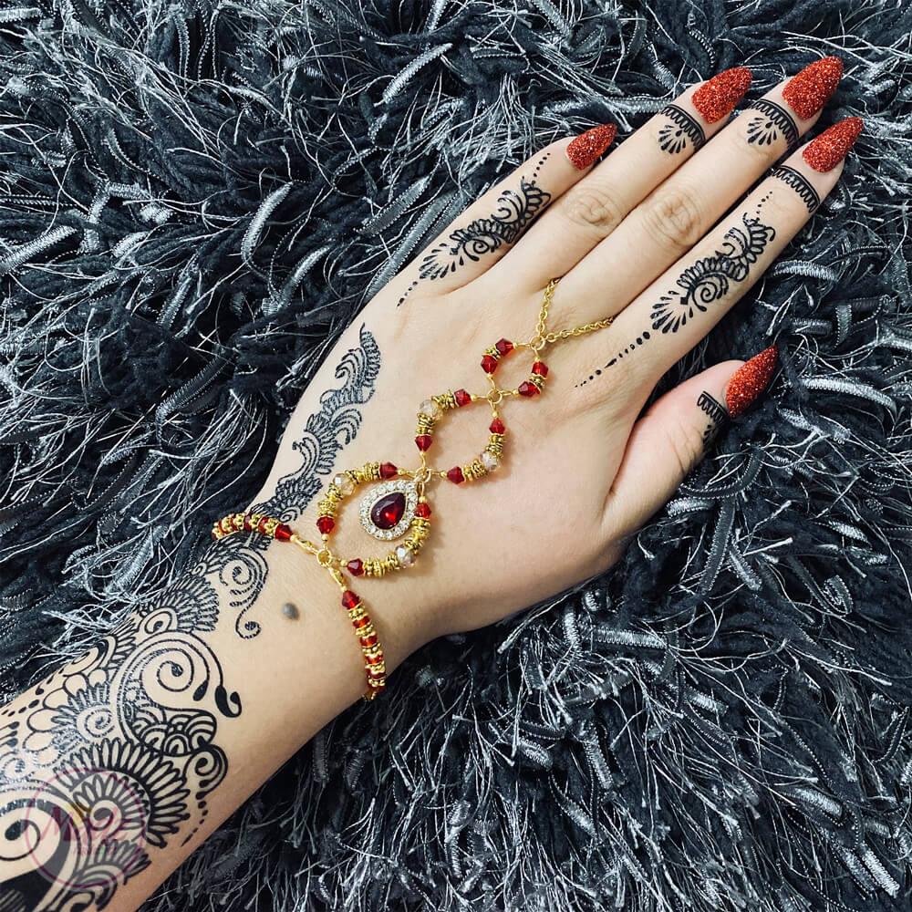 Bridal Hand Piece , Hand Harness , Hand Chain – MadZFashionZ USA