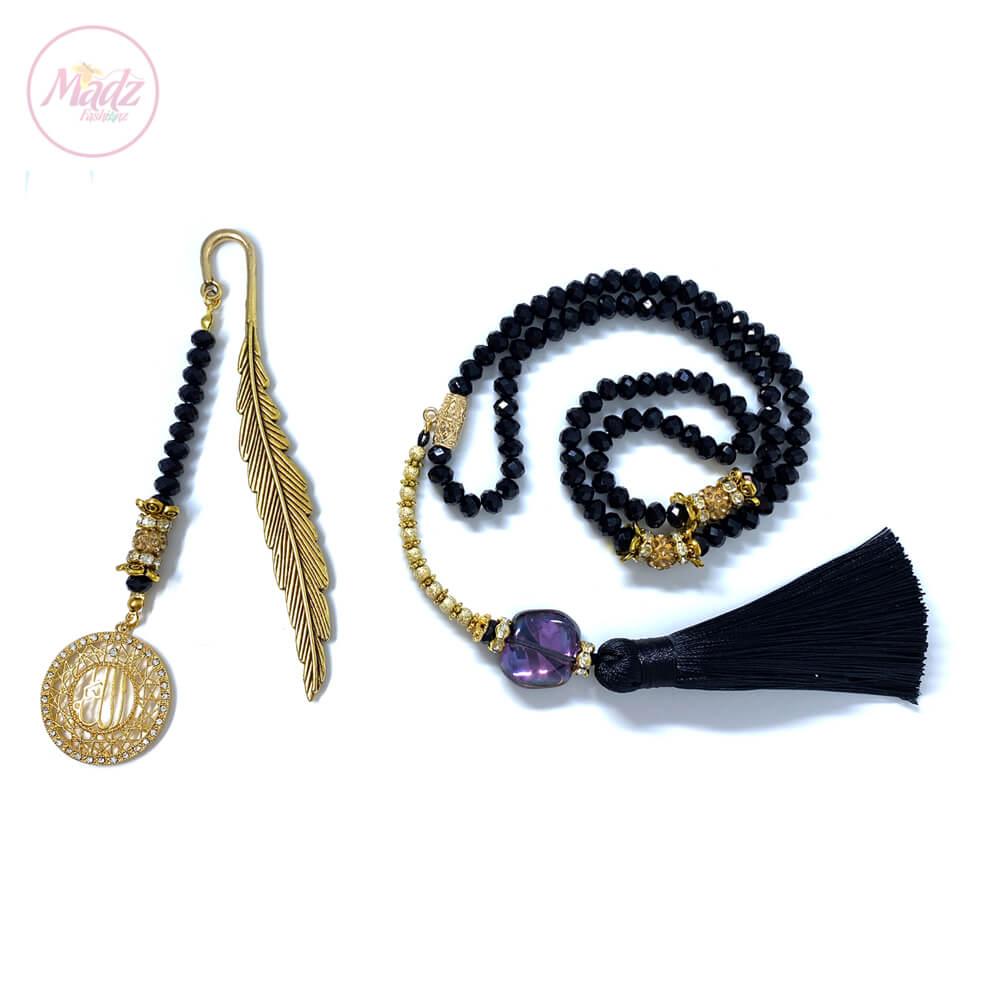 Black Tasbeeh 99 Beads , Ramadan / Eid Gifts Set – MadZFashionZ USA