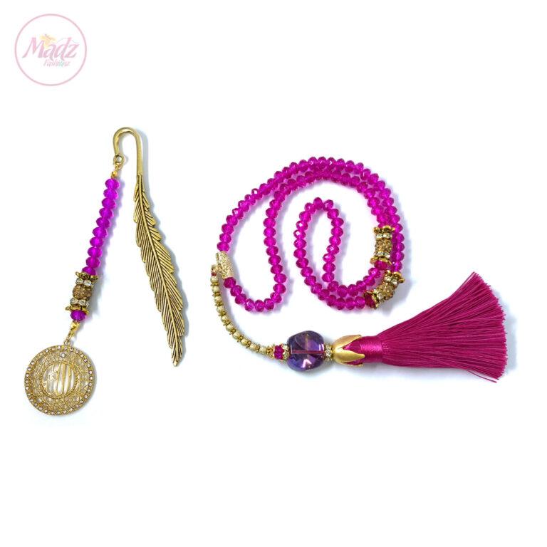 Pink Tasbeeh 99 Beads , Ramadan Islamic Gifts Set - MadZFashionZ USA