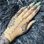 Gold White hand chain , Bridal hand piece , hand harness , Dainty Bracelet , Zircon Bracelet , Crystal Bracelet , Hand Chain Bracelet , Gold Bracelet