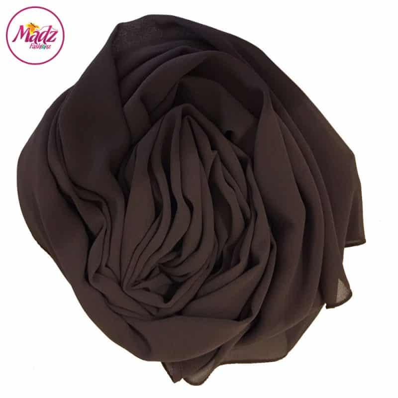 Long Plain Chiffon Chocolate Muslim Hijabs Scarves Shawls