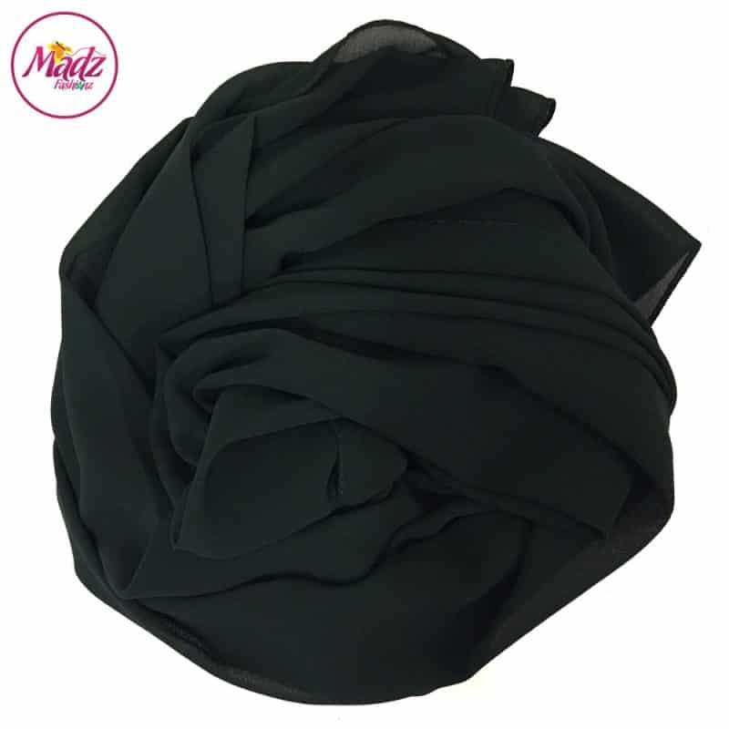 Long Plain Chiffon Forest Green Muslim Hijabs Scarves Shawls