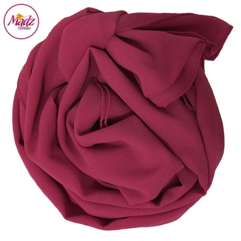 Long Plain Chiffon Pink Muslim Hijabs Scarves Shawls