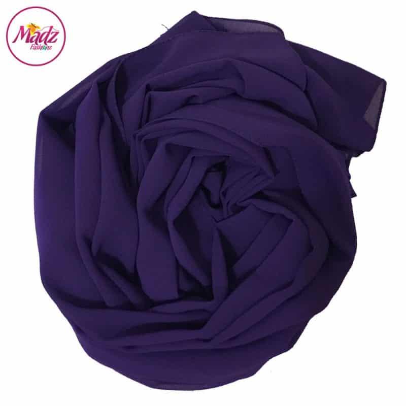Long Plain Chiffon Purple Muslim Hijabs Scarves Shawls